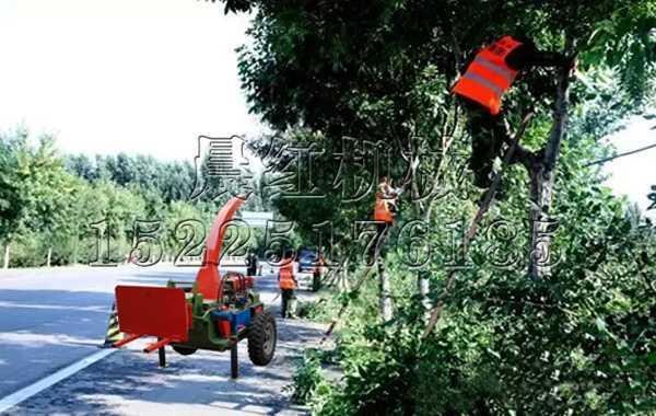 广东道路树木养护树枝粉碎机