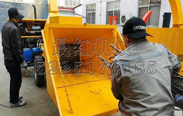 江苏的1500大型木材粉碎机试机